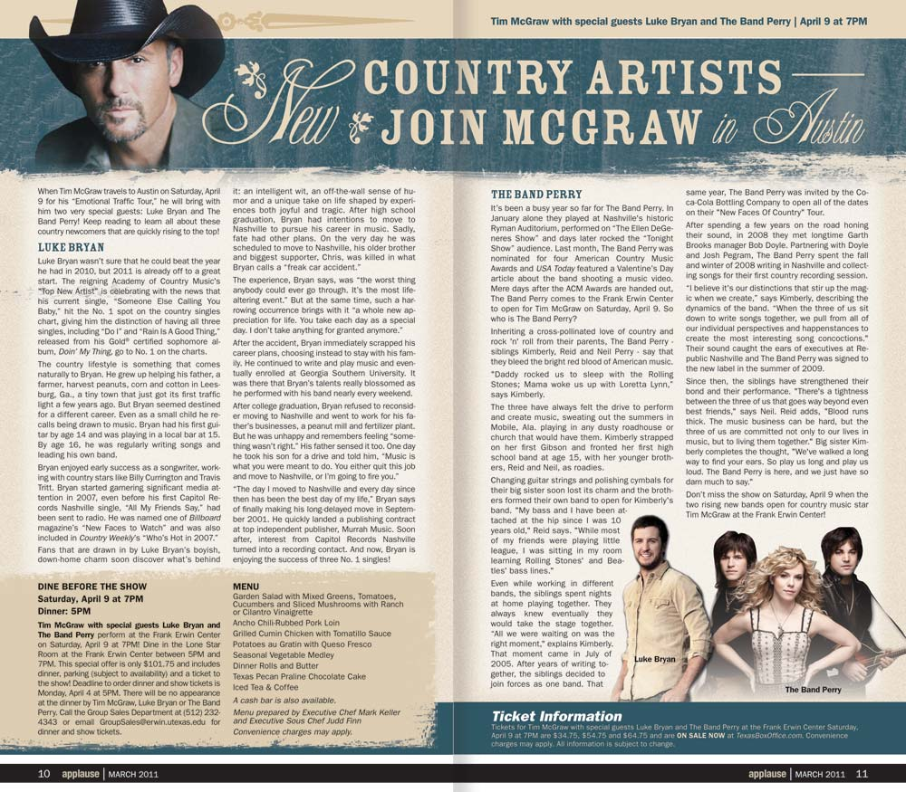 Applause - Tim McGraw Editorial