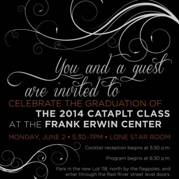 UT CATAPLT Graduation Invitation