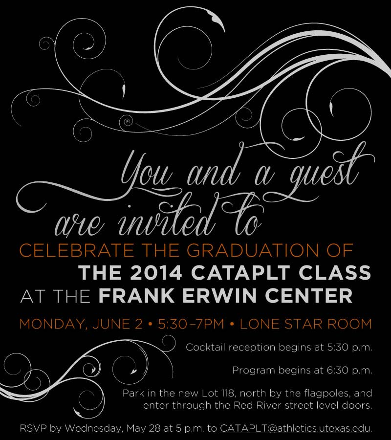 Frank Erwin Center CATAPLT Graduation Invitation