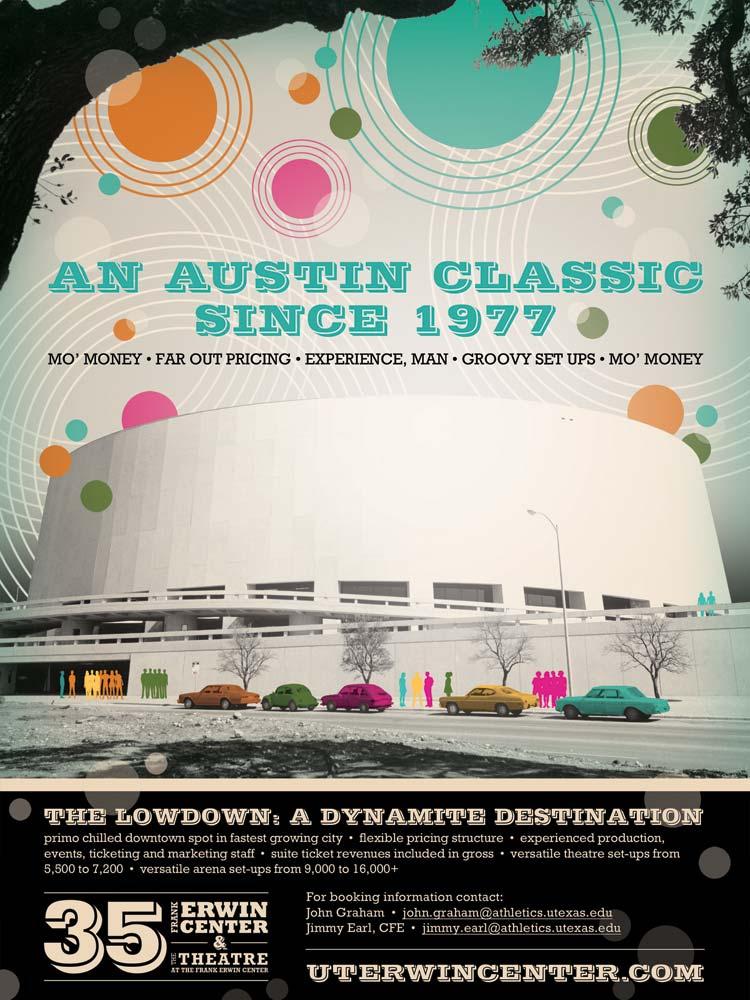 Frank Erwin Center - 35th Anniversary Ad