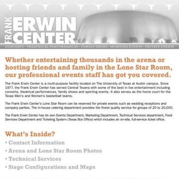 Frank Erwin Center Brochure