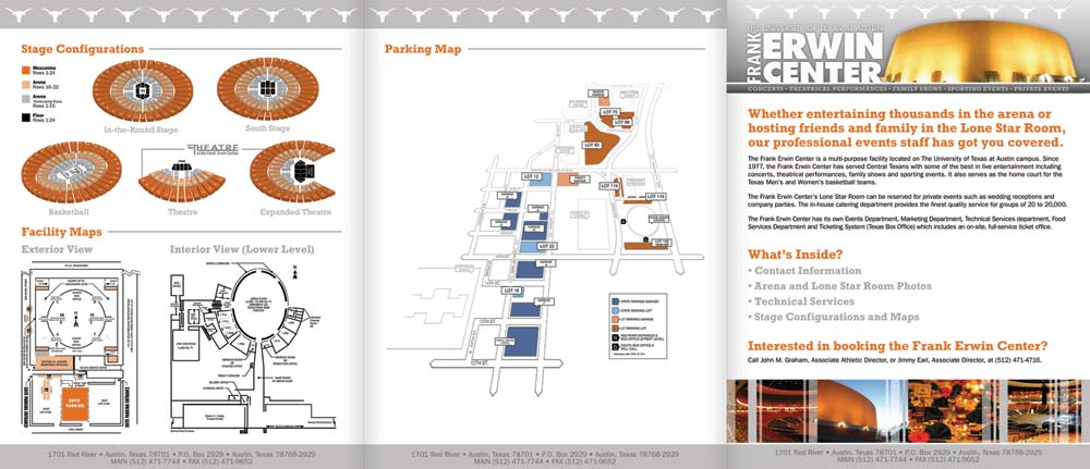 Frank Erwin Center Brochure