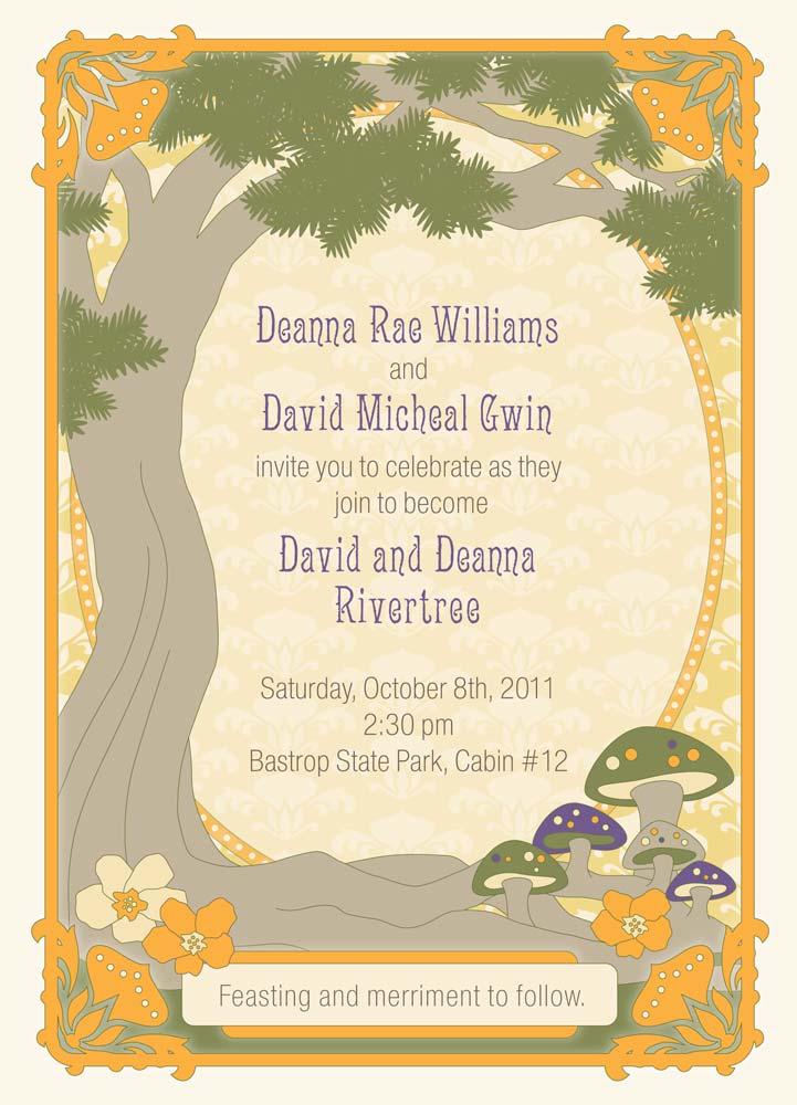 Rivertree Wedding Invitation