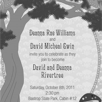 Rivertree Wedding Invitation