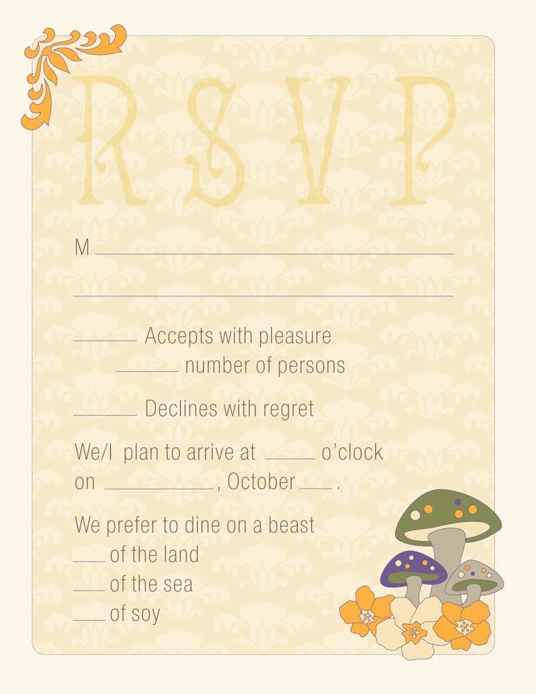 Rivertree Wedding Invitation RSVP