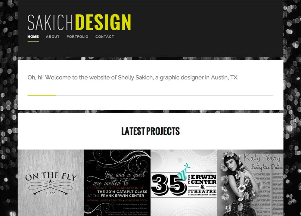 Sakich Design Portfolio Web Design